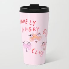 Lovely angry girl club Travel Mug