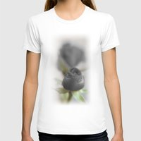 A Black Rose for your Sweetheart Womens Fitted Tee White SMALL