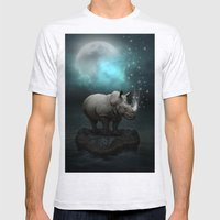 Power Is No Blessing In Itself v.2 (Protect the Rhino)  Mens Fitted Tee Ash Grey SMALL