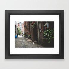 Beautiful Dark Alley Framed Art Print