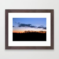 Fireline Framed Art Print
