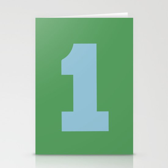 Number 1 Stationery Card