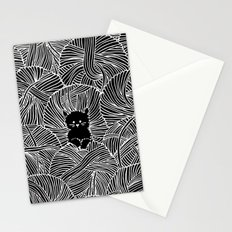 Yarn Ball Pit in Black Stationery Cards