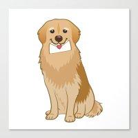Love Golden Retriever Canvas Print