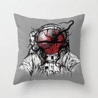 Space Parasitism Throw Pillow
