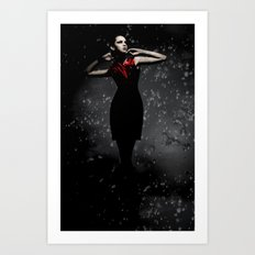 Goddess In The Rain Art Print