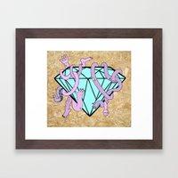 DIAMOND HANDS Framed Art Print