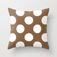 Chocolate and white Throw Pillow