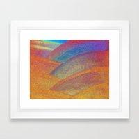 Gold and Rainbow Framed Art Print