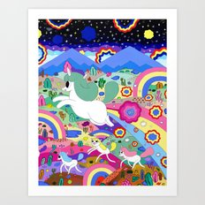 Gary the Farting Unicorn Art Print