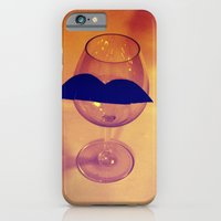 iPhone & iPod Case featuring Hipster Wine Glass by Tiny Pencil Studio: Illustration & Desig