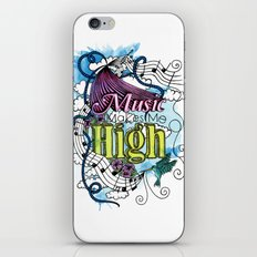 Music Makes Me High iPhone & iPod Skin