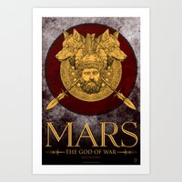 MARS - The God Of War Art Print