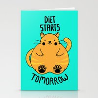 Diet Starts Tomorrow! Stationery Cards