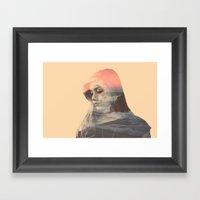 Wild Lion (Double Exposu… Framed Art Print