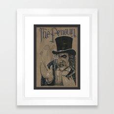 The Penguin (DRAWLLOWEEN… Framed Art Print