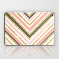 Stylish Boho Gray Pink C… Laptop & iPad Skin