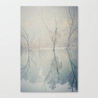 Foggy Morning At The Lak… Canvas Print