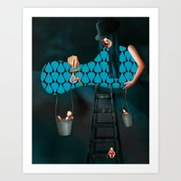 WOMEN - BLUE Art Print