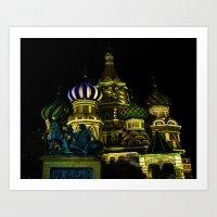 Saint Basil's Cathedral,… Art Print