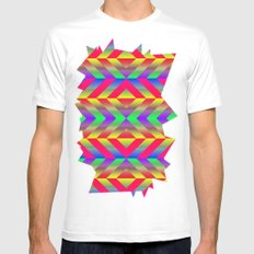 Psychedelic White Mens Fitted Tee SMALL
