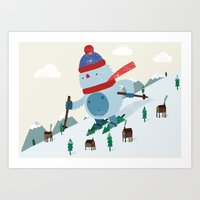Beware the Yeti! Art Print