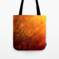 The burning world Tote Bag