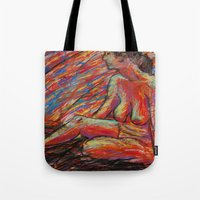 Hypatia On Fire Tote Bag