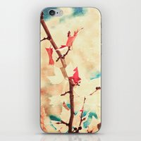 Autumn (Leafs in a textured and abstract sky) iPhone & iPod Skin