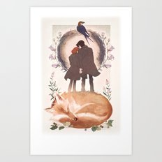 Fable of Mulder and Scully Art Print