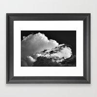 'Swirling Clouds' Framed Art Print
