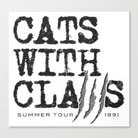 Cats With Claws concert t-shirt Canvas Print