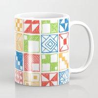Abstract Squares Primary Mug