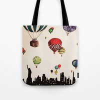 Balloon Ride Over NYC Tote Bag