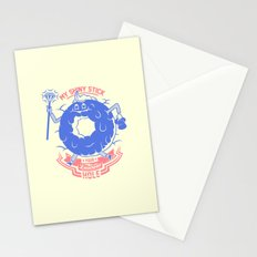 Mischievous donut Stationery Cards
