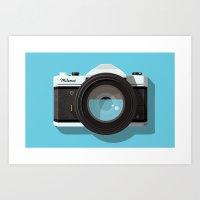 camera Art Prints featuring Camera by Dorian Danielsen