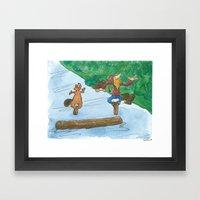 The Log Driver's Waltz Framed Art Print