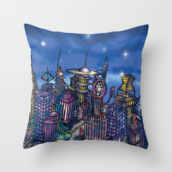 C2 & Posse (New-New York City) Throw Pillow