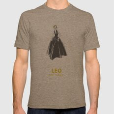 Leo Mens Fitted Tee Tri-Coffee SMALL