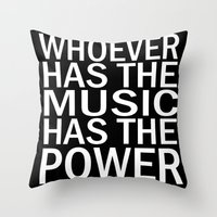 Throw Pillow featuring The Power of Music by MattXM85