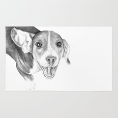 A Story To Tell :: A Beagle Puppy Rug