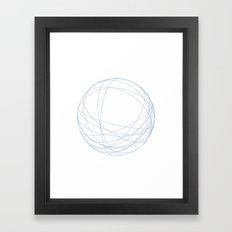 #491 Orbits – Geometry Daily Framed Art Print
