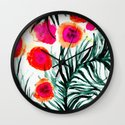 Olivia Flower Wall Clock