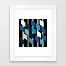 Diamond stripes Framed Art Print