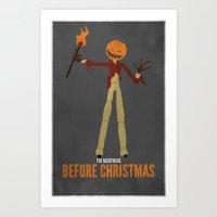 The Nightmare Before Christmas   Pumpkin Jack Variant Art Print