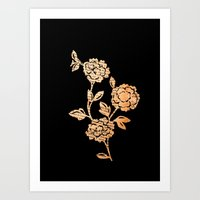 PAPERCUT FLOWER 3 Art Print