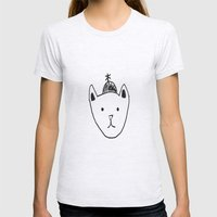 Being Fancy In A Hat Womens Fitted Tee Ash Grey SMALL
