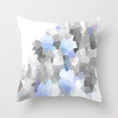 Blue & Gray Dreams Throw Pillow