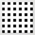 Cross Squares Black & White Canvas Print
