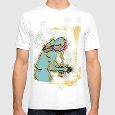 Dance SMALL Mens Fitted Tee White